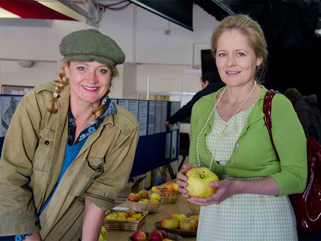 Sir John's daughter, Suzannah, who is helping him with the juice and compote business, pictured here with The Daily Telegraph's Xanthe Clay.